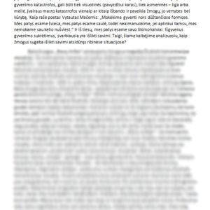 Asmenybės laikysena ribinėse situacijose (Balys Sruoga, Antanas Škėma, Vincas Mykolaitis-Putinas)
