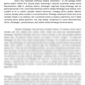 """Mindaugo, kaip žmogaus, dramatizmas Justino Marcinkevičiaus dramoje ,,Mindaugas"""""""