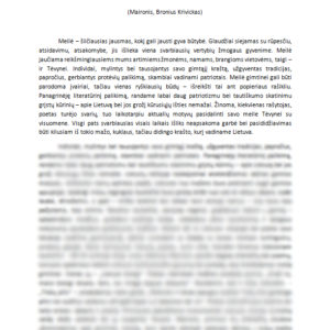 Meilė tėvynei lietuvių literatūroje (Maironis, Bronius Krivickas)