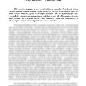 """Bibliniai įvaizdžiai – I. Mero romane """"Lygiosios trunka akimirką"""" ir S. Parulskio romane """"Tamsa ir partneriai"""""""