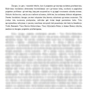 Žmogaus prigimties prieštaringumas lietuvių literatūroje (Vincas Krėvė-Mickevičius, Vincas Mykolaitis-Putinas, Antanas Škėma)