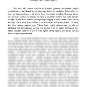 Kaip žmogus išgyvena kaltės jausmą lietuvių literatūroje? (Salomėja Nėris, Juozas Aputis)